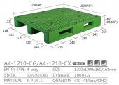 單面型棧板(A4-1210-CX-YLC)